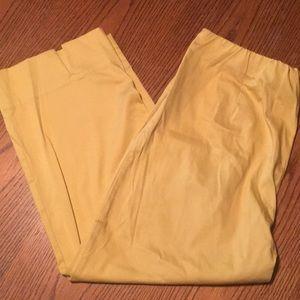Susan Graver Pants - Susan Graver yellow Capri pants Medium